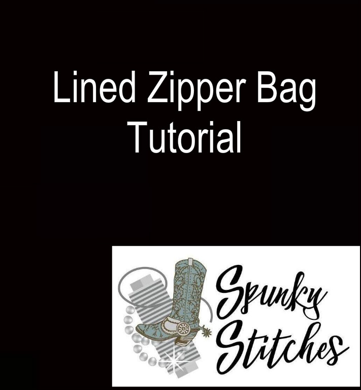 Video Tutorial for how to make a Lined Zipper Bag in the hoop embroidery file by spunky stitches!