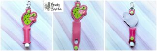 cactus chapstick holder in the hoop embroidery file by spunkystitches