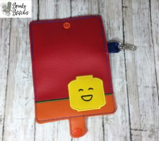 lego mini wallet in the hoop embroidery file by spunky stitches