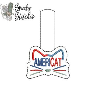 americat key fob in the hoop embroidery file by spunkystitches
