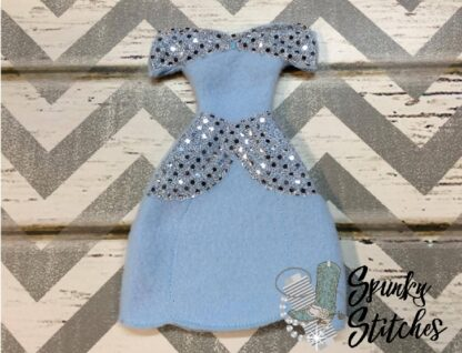 Cinderella Elf costume in the hoop embroidery design by spunky stitches