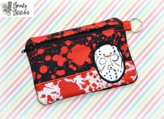 jason zipper bag in the hoop embroidery file by spunkystitches
