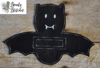 bat silverware holder in the hoop embroidery file by spunky stitches