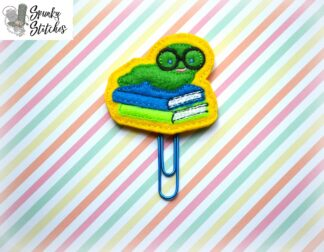book worm feltie in the hoop embroidery file by spunky stitches