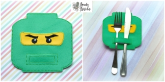 lego ninja silverware holder in the hoop embroidery file by spunky stitches