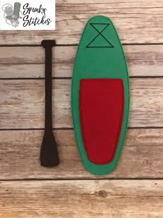 paddle board Elf costume in the hoop embroidery file by spunky stitches
