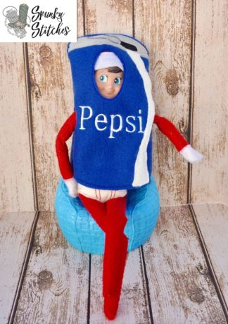 Elf pepsi costume in the hoop embroidery file by spunky stitches