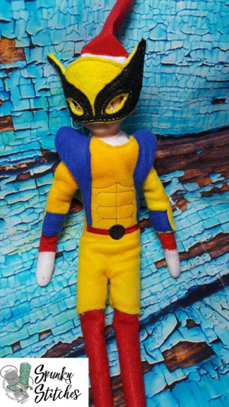 wolverine elf costume in the hoop embroidery file by spunky stitches