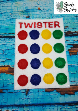 Twister Elf Prop in the hoop embroidery file by spunky stitches