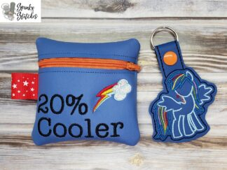 20 % cooler zipper bag in the hoop embroidery file by Spunky stitches