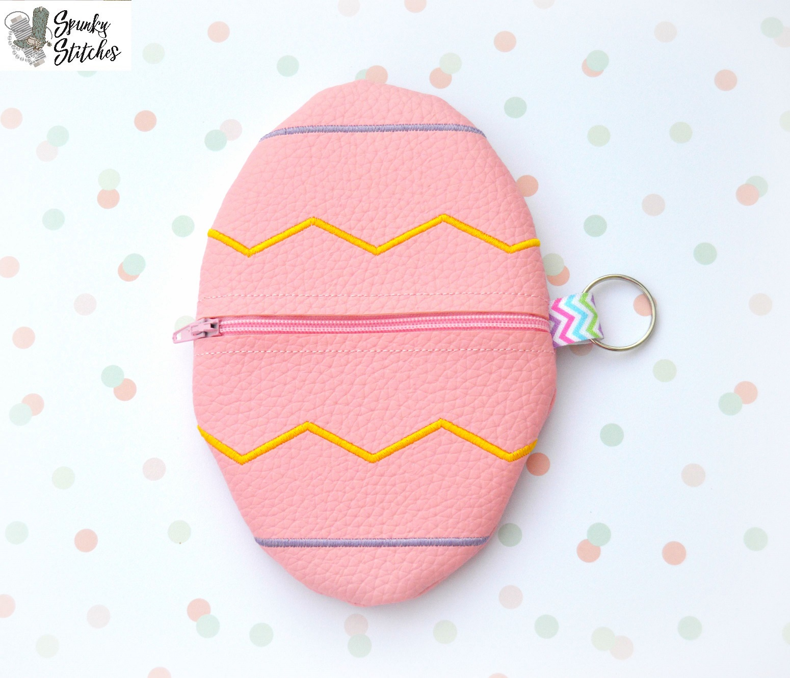 Drawstring Backpack Watercolor Easter Eggs Pink With Spots Bags